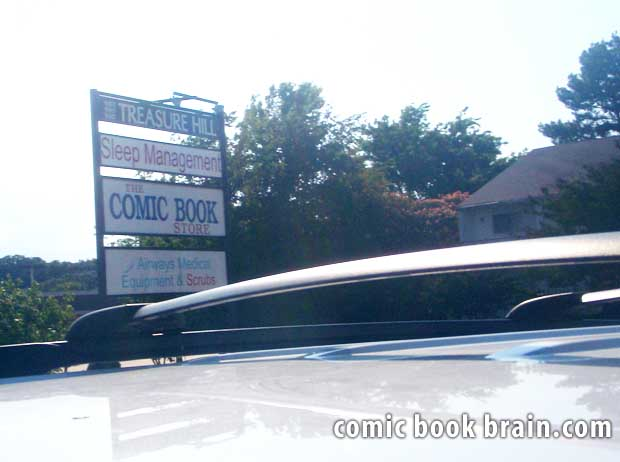 Sign Comic Book Store Little Rock