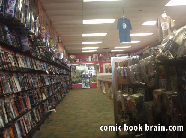 Inside Comic BOok Store in Nashville Tennessee