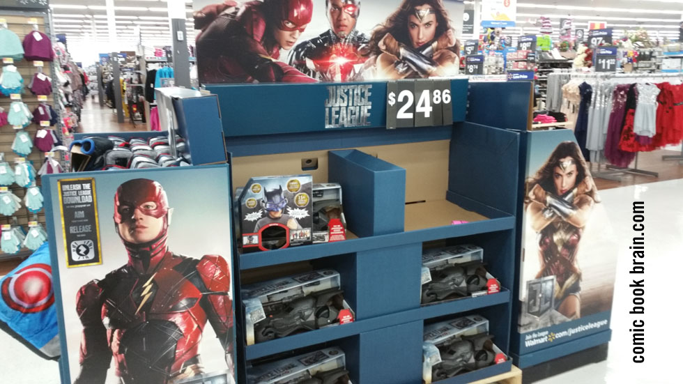 Justice League Movie selling in Walmart