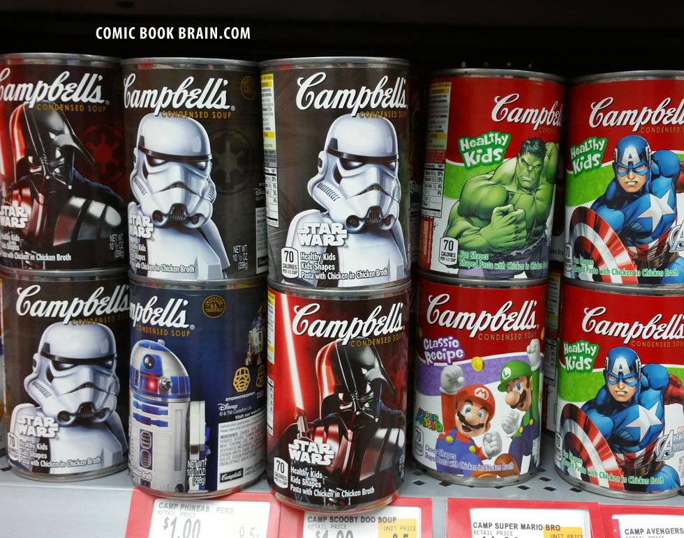 Cans of Star Wars and Captain America