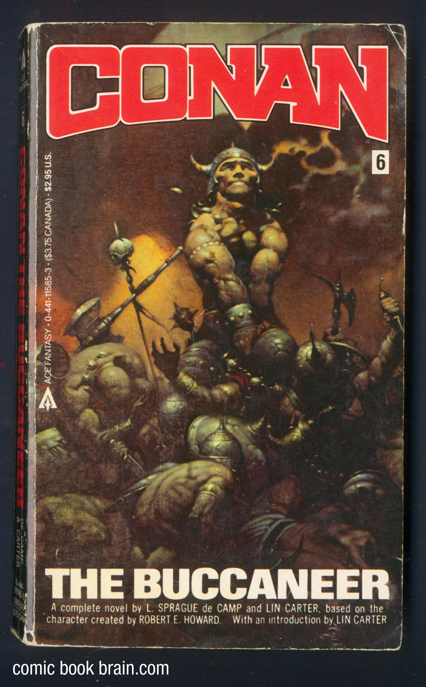 Conan the Buccaneer Book Cover Frazetta