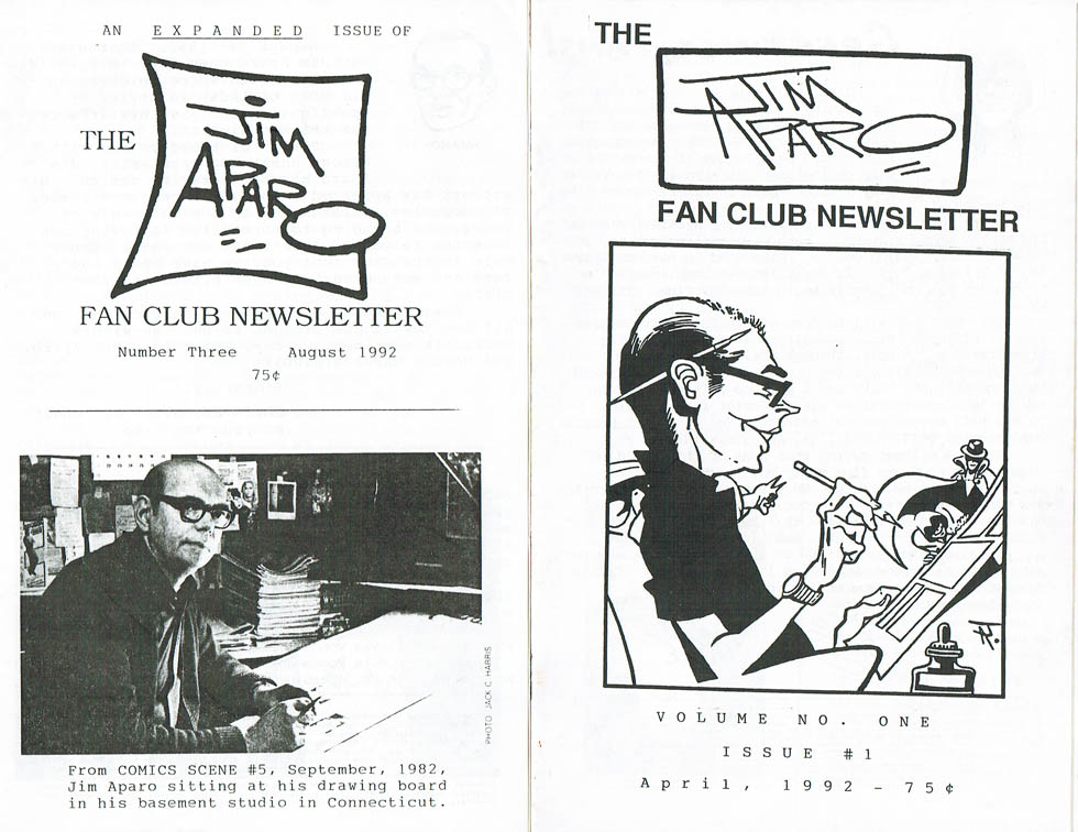 Jim Aparo Fanclub Newsletter issues 1 and 3