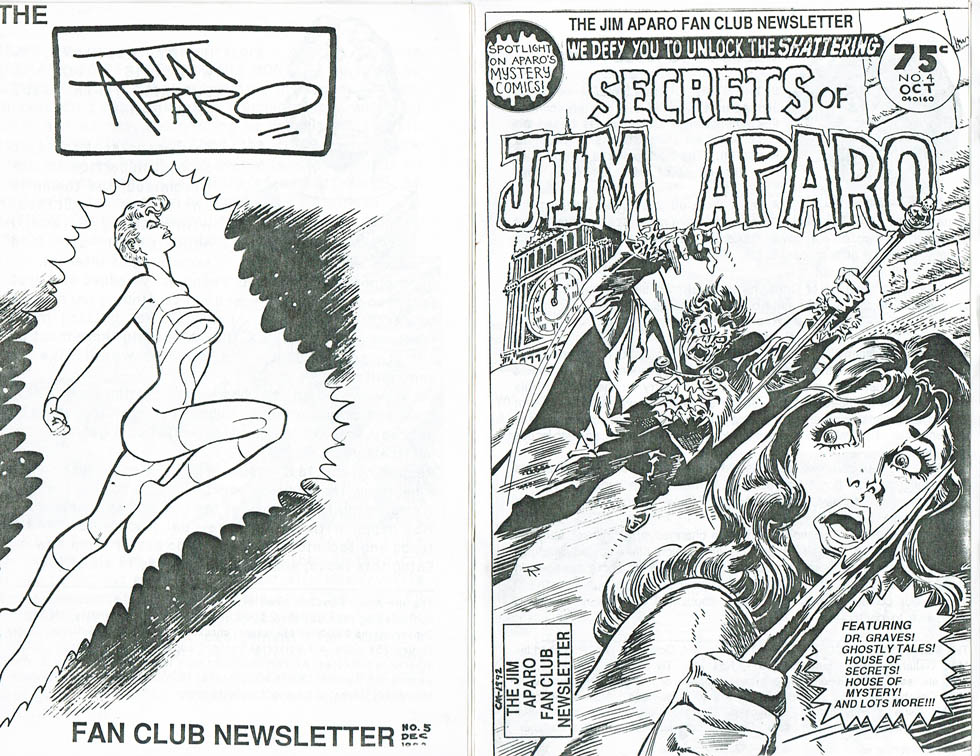 Jim Aparo Fanclub Newsletter issues 4 and 5