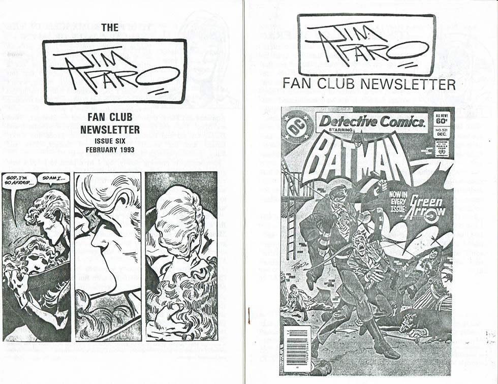 Jim Aparo Fanclub Newsletter issues 6 and 8