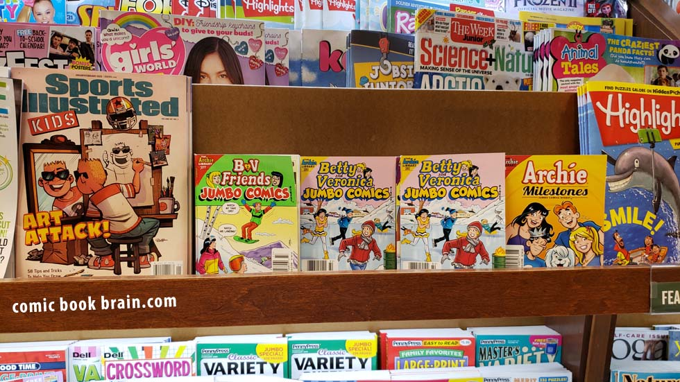 Archie Rack of Comics at Barnes and Noble