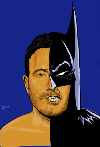 Batman Ben Affleck art by eew