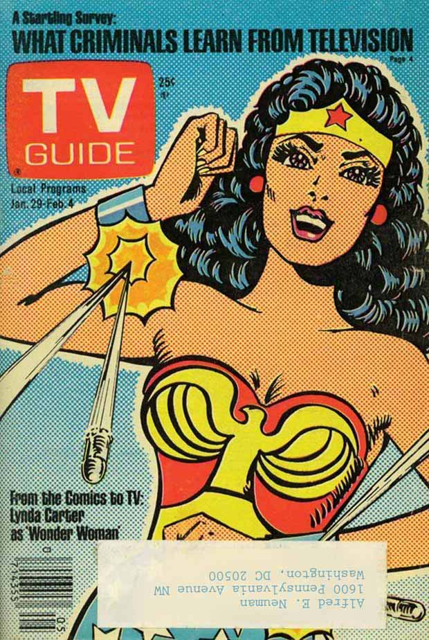 Lynda Carter cover to TV Guide Jan 1977