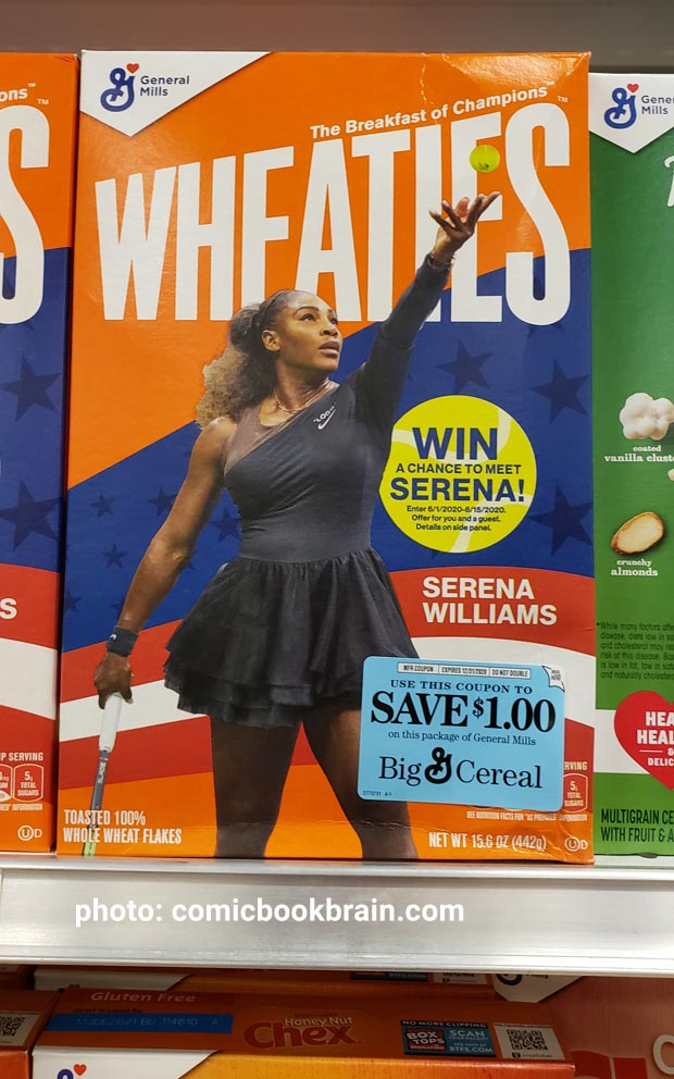 Wheaties Serena not all superheroes wear capes