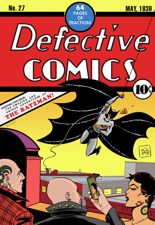 Defective Comics 27 1939 featuring BATZMAN