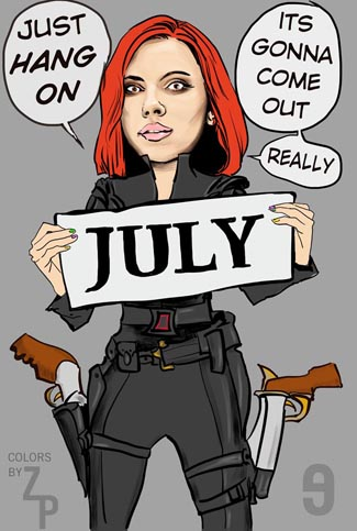Scarlett Johansson Black Widow Delay to July