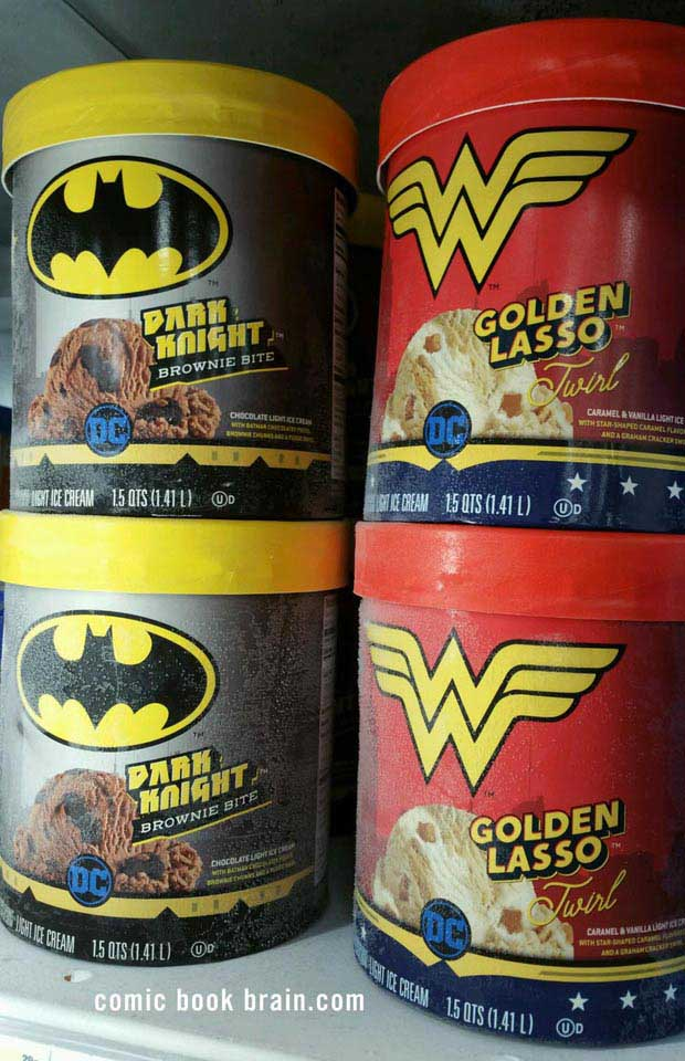 DC Brand Ice Cream Batman and Wonder Woman