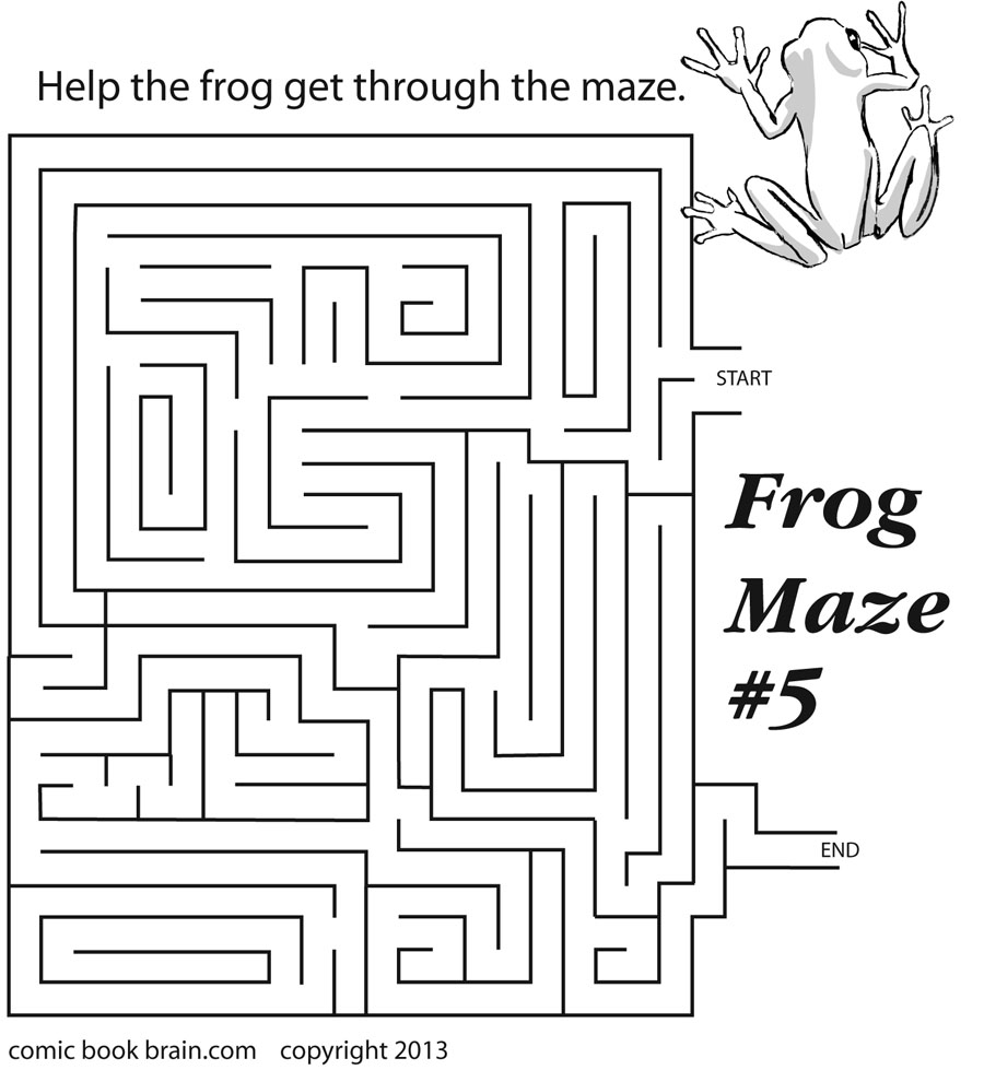 Frog Maze for kids